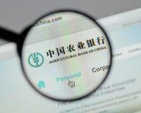 米兰,意大利- 2017年8月10日:中国农业银行网 库存图片