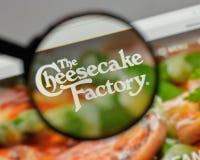 米兰,意大利- 2017年8月10日:乳酪蛋糕在w的工厂商标 免版税图库摄影