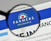 米兰,意大利- 2017年8月10日:农夫保险交换商标 免版税库存图片