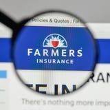 米兰,意大利- 2017年8月10日:农夫保险交换商标 库存照片