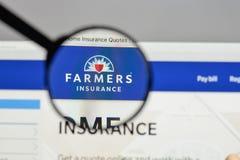 米兰,意大利- 2017年8月10日:农夫保险交换商标 图库摄影