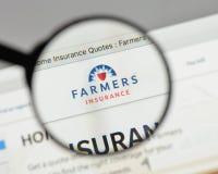 米兰,意大利- 2017年8月10日:农夫保险交换商标 免版税图库摄影