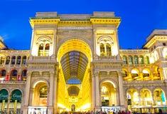 米兰,意大利- 2017年5月03日:圆顶场所维托里奥Emanuele玻璃圆顶在米兰,意大利 图库摄影