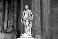 米兰,意大利- 2017年9月05日:圣巴塞洛缪雕象耶稣基督的传道者,由建筑师Marco d ` Agrate, 1562 库存照片