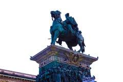 米兰,意大利- 2017年5月03日:在国家历史文物的看法对胜者伊曼纽尔II 免版税库存照片