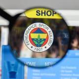 米兰,意大利- 2017年8月10日:在的Fenerbahce伊斯坦布尔商标 免版税图库摄影