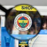 米兰,意大利- 2017年8月10日:在的Fenerbahce伊斯坦布尔商标 库存照片
