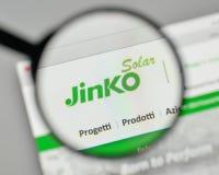 米兰,意大利- 2017年11月1日:在的Jinko太阳举行的商标 库存图片