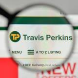 米兰,意大利- 2017年11月1日:在网的特拉维斯珀金斯商标 免版税库存图片