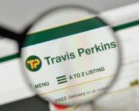 米兰,意大利- 2017年11月1日:在网的特拉维斯珀金斯商标 免版税库存照片