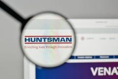 米兰,意大利- 2017年11月1日:在网站上的猎人商标ho 免版税图库摄影