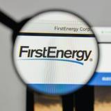 米兰,意大利- 2017年8月10日:在网站上的第一个能量商标 库存照片