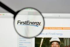 米兰,意大利- 2017年8月10日:在网站上的第一个能量商标 图库摄影