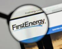 米兰,意大利- 2017年8月10日:在网站上的第一个能量商标 免版税库存图片