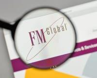 米兰,意大利- 2017年8月10日:在网站上的FM全球性商标ho 库存照片