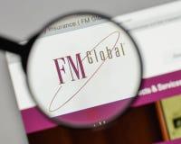 米兰,意大利- 2017年8月10日:在网站上的FM全球性商标ho 库存图片