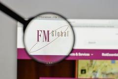 米兰,意大利- 2017年8月10日:在网站上的FM全球性商标ho 免版税库存照片