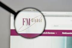 米兰,意大利- 2017年8月10日:在网站上的FM全球性商标ho 免版税库存图片