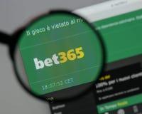 米兰,意大利- 2017年8月10日:在网站家的赌注365商标 免版税库存照片