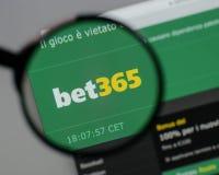 米兰,意大利- 2017年8月10日:在网站家的赌注365商标 库存照片