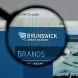 米兰,意大利- 2017年8月10日:在网站h上的布朗斯维克商标 库存照片