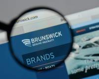 米兰,意大利- 2017年8月10日:在网站h上的布朗斯维克商标 库存图片