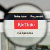 米兰,意大利- 2017年11月1日:在网站h上的里约Tinto商标 免版税库存照片