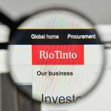 米兰,意大利- 2017年11月1日:在网站h上的里约Tinto商标 图库摄影