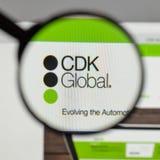 米兰,意大利- 2017年8月10日:在网站h上的CDK全球性商标 免版税库存图片