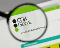 米兰,意大利- 2017年8月10日:在网站h上的CDK全球性商标 库存照片
