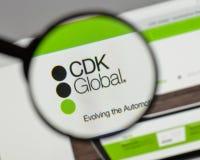 米兰,意大利- 2017年8月10日:在网站h上的CDK全球性商标 库存图片