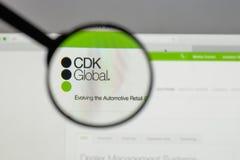 米兰,意大利- 2017年8月10日:在网站h上的CDK全球性商标 免版税图库摄影
