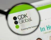 米兰,意大利- 2017年8月10日:在网站h上的CDK全球性商标 免版税库存照片