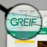 米兰,意大利- 2017年8月10日:在网站homepa的格雷夫商标 免版税库存照片