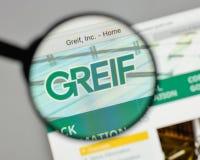 米兰,意大利- 2017年8月10日:在网站homepa的格雷夫商标 免版税库存图片