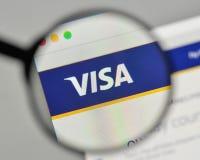 米兰,意大利- 2017年11月1日:在网站homepa的签证商标 免版税库存图片
