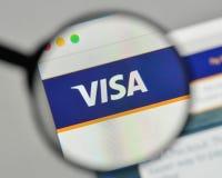 米兰,意大利- 2017年11月1日:在网站homepa的签证商标 免版税库存照片