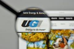 米兰,意大利- 2017年11月1日:在网站homepag的UGI商标 库存照片