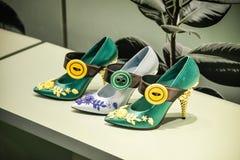 米兰,意大利- 2017年9月24日:布拉达鞋子在米兰商店 库存图片
