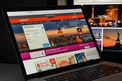 米兰,意大利- 2017年8月10日:旅馆 com网站主页 它 免版税库存图片