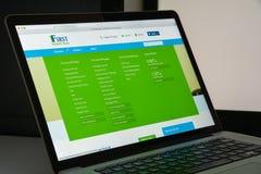 米兰,意大利- 2017年8月10日:第一个互联网银行网站家 库存照片