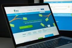 米兰,意大利- 2017年8月10日:第一个互联网银行网站家 免版税库存图片