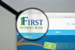 米兰,意大利- 2017年8月10日:第一个互联网银行网站家 免版税库存照片