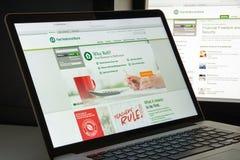 米兰,意大利- 2017年8月10日:第一个国家银行网站 它 免版税图库摄影