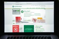 米兰,意大利- 2017年8月10日:第一个国家银行网站 它 免版税库存图片