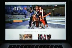 米兰,意大利- 2017年8月10日:第二生活网站主页 它 免版税图库摄影