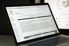 米兰,意大利- 2017年8月10日:维基百科网站主页 它i 免版税库存图片