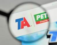 米兰,意大利- 2017年11月1日:美国商标的旅行中心 免版税库存照片
