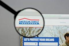 米兰,意大利- 2017年8月10日:美国家庭保险小组 免版税库存照片