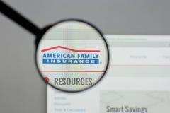 米兰,意大利- 2017年8月10日:美国家庭保险小组 免版税库存图片